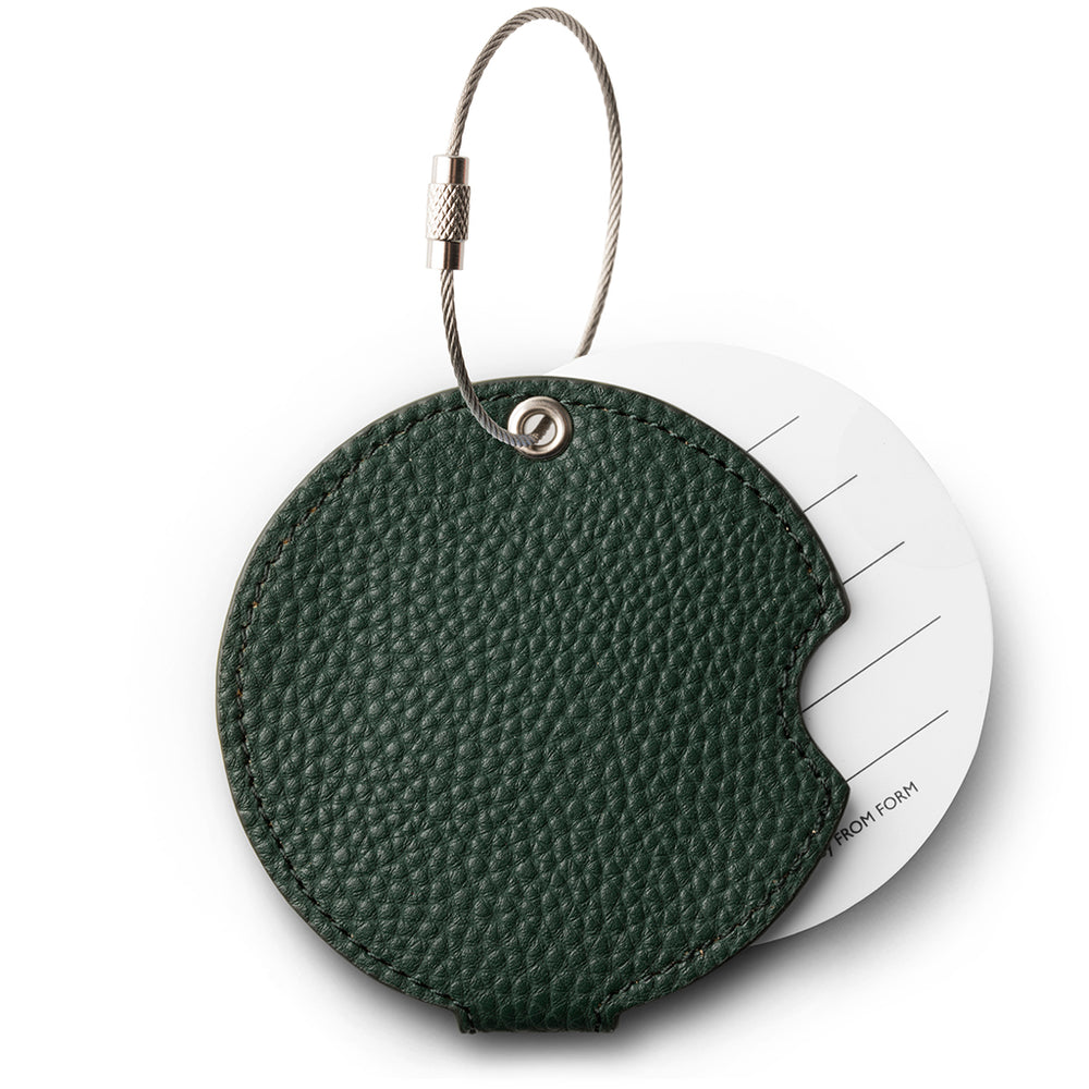 Forest green luggage tag