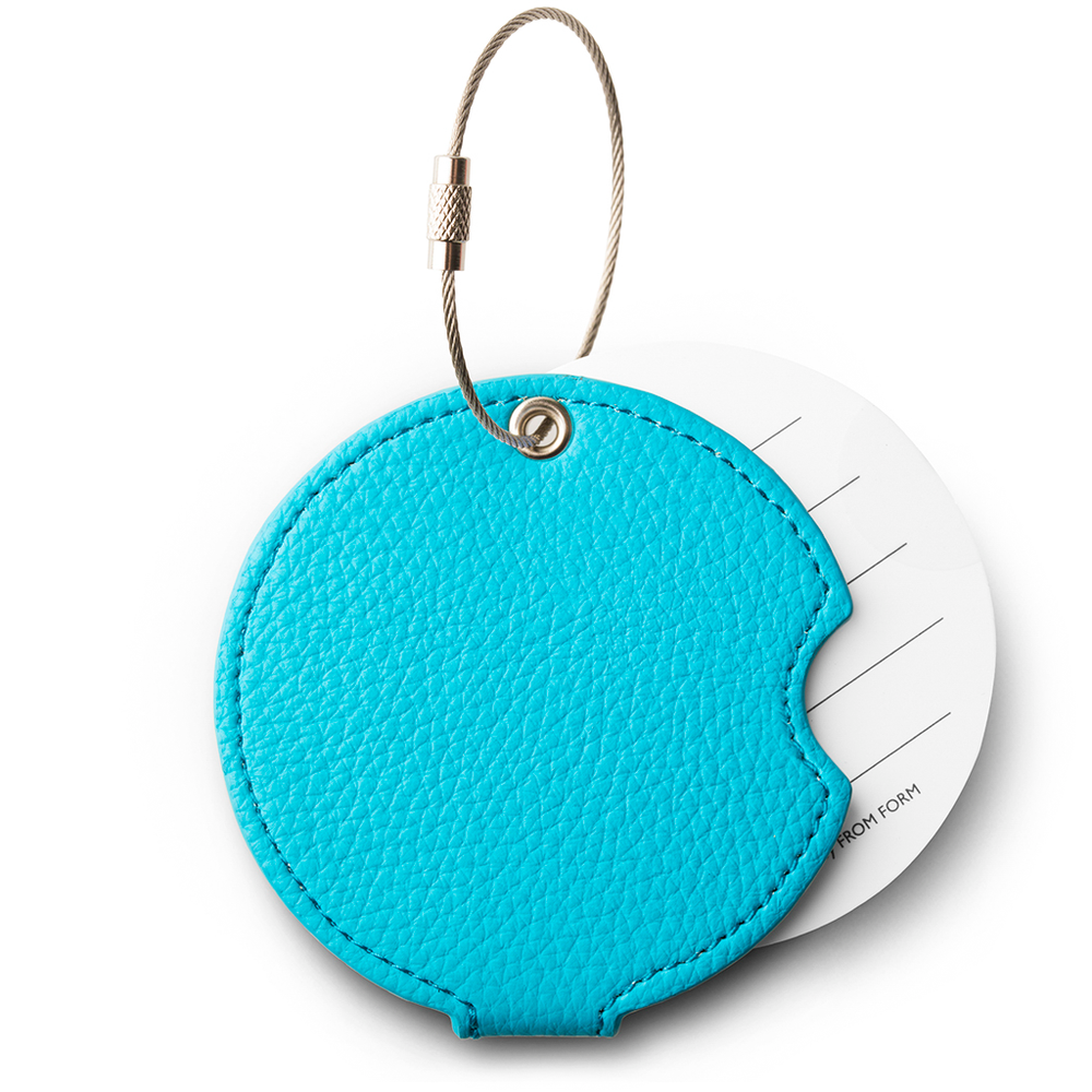 Turquoise luggage tag