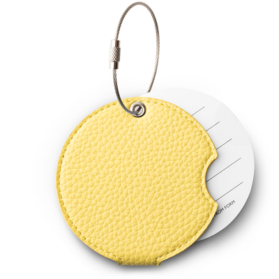 Gentle yellow luggage tag