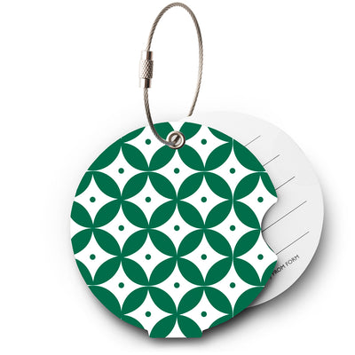 Japan green luggage tag