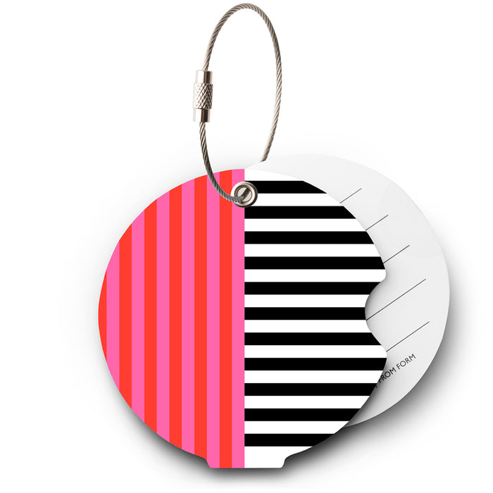 Addatag, multi stripes pink