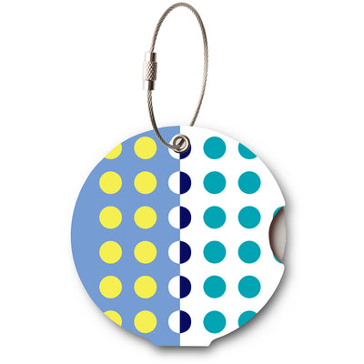 Addatag, multi dots blue