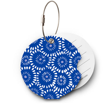 Batic Blue luggage tag