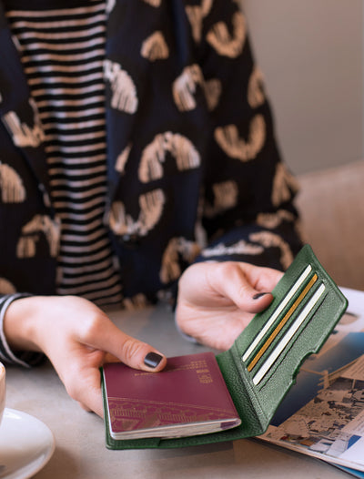 Passport holder, forest green