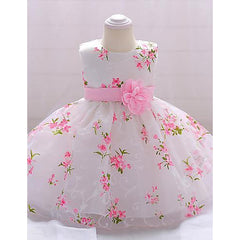 Baby Girls' Floral Sleeveless Dress for Eid-kid clothing-UAE Cute Stuff