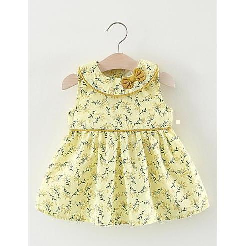Baby Girls' Print Sleeveless Dress for Eid-kid clothing-UAE Cute Stuff