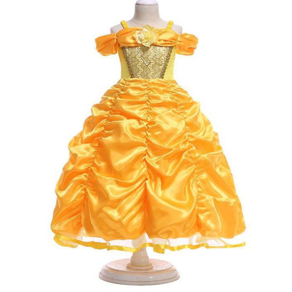 Belle Disney Dress for Birthday, Pageant, Party/ Flower Dress-kid clothing-UAE Cute Stuff