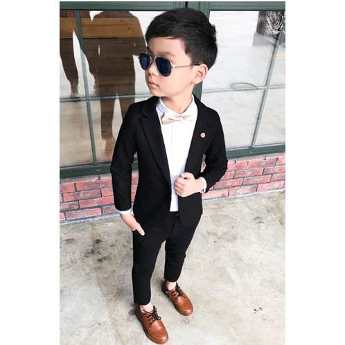 Black Suit for Boy-kid clothing-UAE Cute Stuff