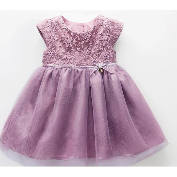 Blush Purple Flower Lace Dress for Birthday, Pageant, Party/ Flower Dress-kid clothing-UAE Cute Stuff