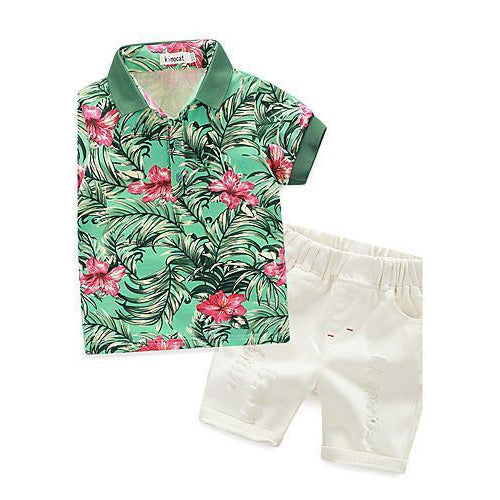 Boys' Clothing Set, Cotton Summer Short Sleeves-kid clothing-UAE Cute Stuff