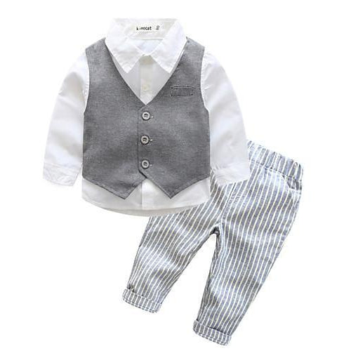 Boys' Cotton Long Sleeves Active Gray-kid clothing-UAE Cute Stuff