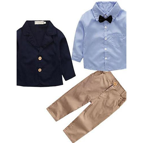 Boys' Long Sleeves Street chic Blue-kid clothing-UAE Cute Stuff