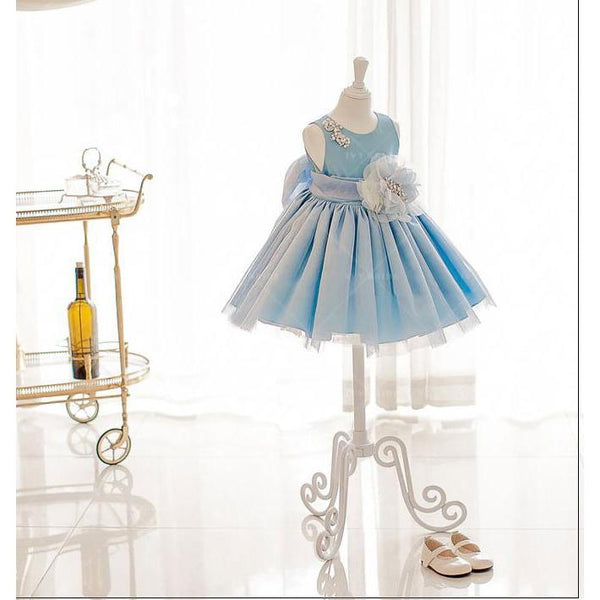 Cinderella Blue Girl Dress for Birthday, Pageant, Party/ Flower Dress-kid clothing-UAE Cute Stuff