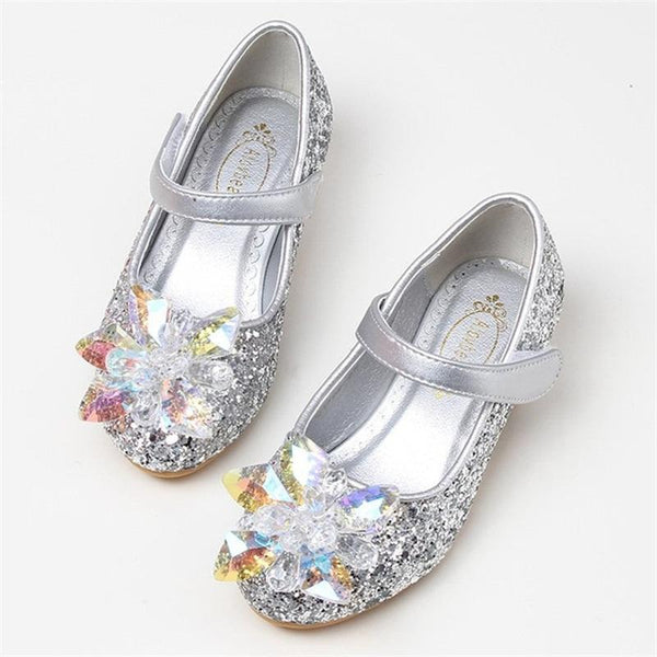 Cinderella Glass Shoe for Birthday, Pageant, Party/ Flower Dress-shoe-UAE Cute Stuff