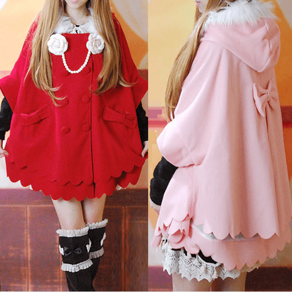 ?Cloak Coat Sweet Lolita Style-everyday dress-UAE Cute Stuff