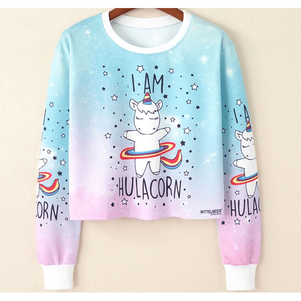 Cutie Unicorn Pastel Sweater- Pink-everyday dress-UAE Cute Stuff