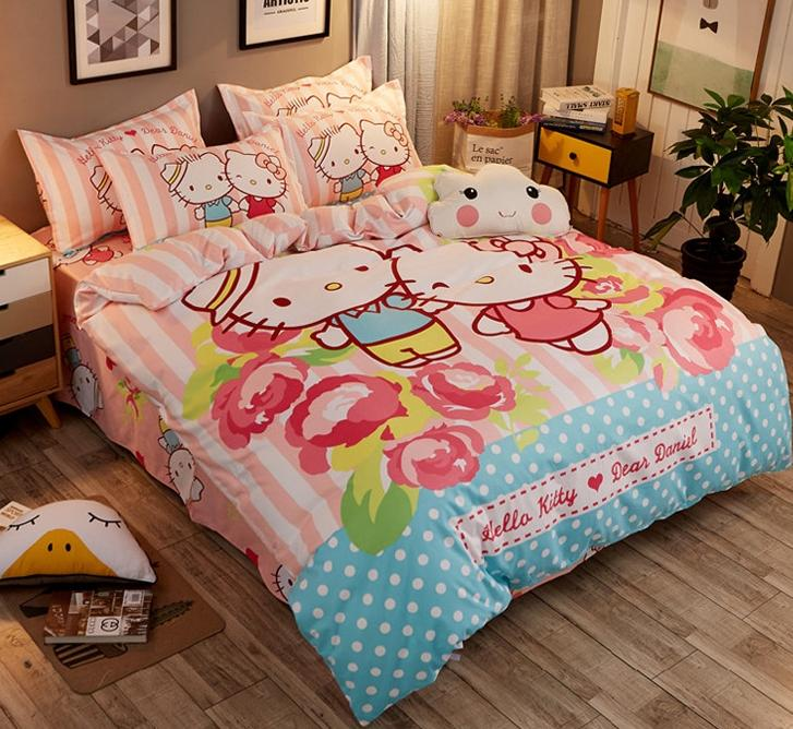 Daniel*Kitty Bed+Quilt+Pillow Set-bedding-UAE Cute Stuff