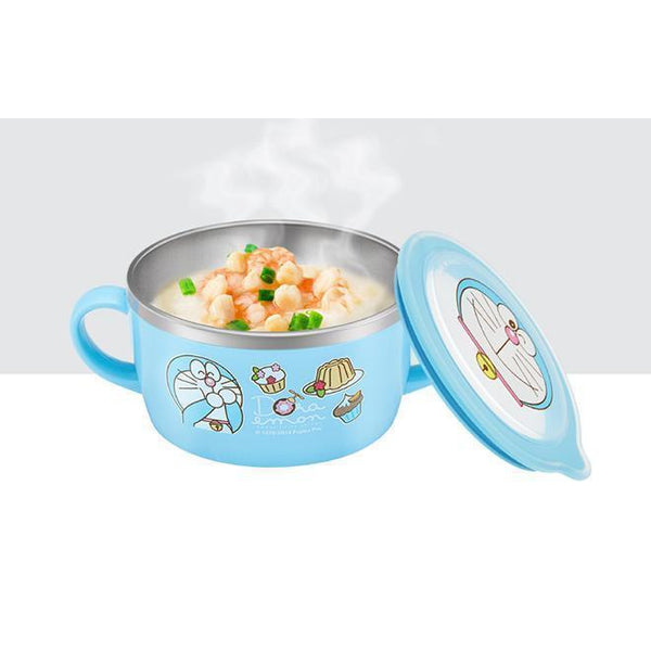 Doraemon insulation stainless steel bowl-dinnerware-UAE Cute Stuff