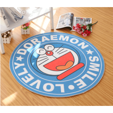 Doraemon Round Carpet-carpet-UAE Cute Stuff