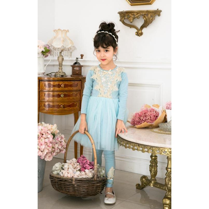Elegant Blue Dress for Birthday, Pageant, Party/ Flower Dress-kid clothing-UAE Cute Stuff