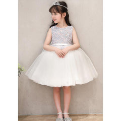 Embroidery Flower Crystal Dress for Birthday, Pageant, Party/ Flower Dress-kid clothing-UAE Cute Stuff