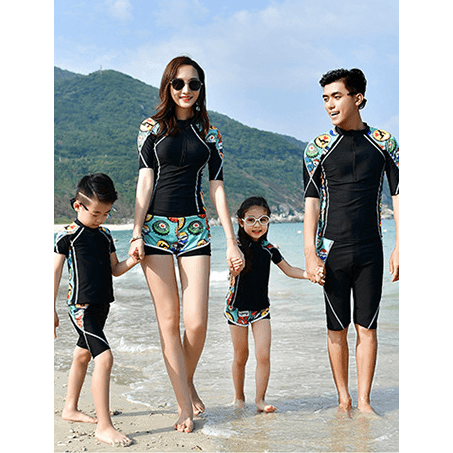 Family Matching Rash-guard/ Covered Style Swimsuit-kid clothing-UAE Cute Stuff