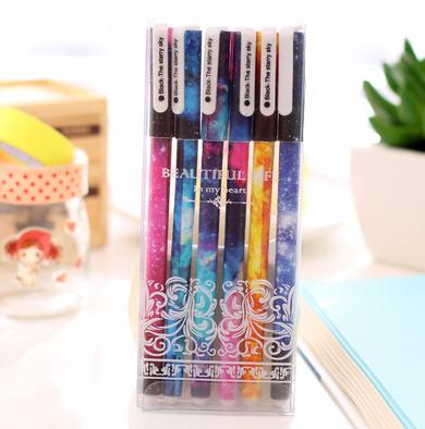Galaxy Cute Pen Pack of 6 Pieces-pen-UAE Cute Stuff