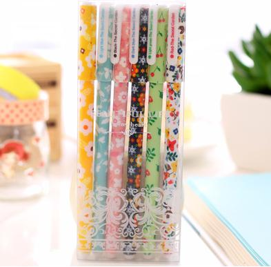 Gel Pen Cute Floral Pack of 6-pen-UAE Cute Stuff