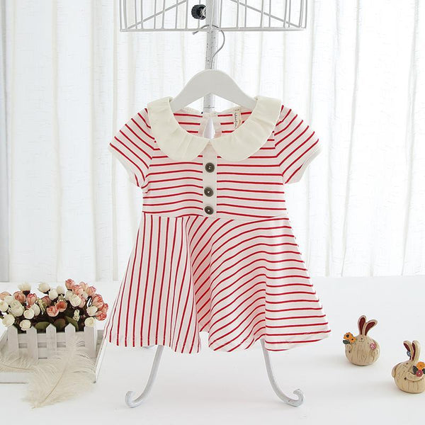 Girl Dress-Red/White for 9 months- 3 years old for Birthday, Pageant, Party/ Flower Dress-kid clothing-UAE Cute Stuff
