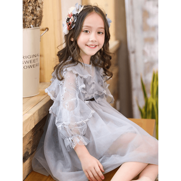 Girl Dress to Impress for Birthday, Pageant, Party/ Flower Dress-kid clothing-UAE Cute Stuff