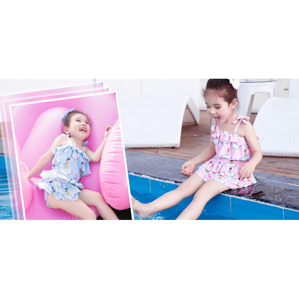 Girl One-Piece Swimwear for 1-14 years old-kid clothing-UAE Cute Stuff