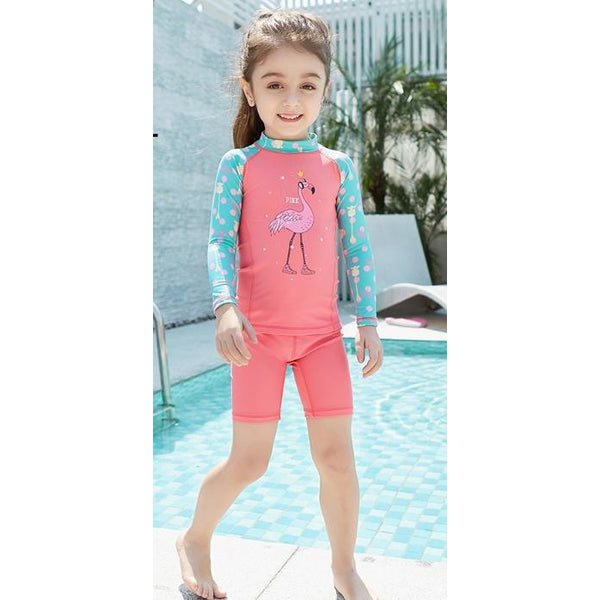 Girl Rash Guard/ Covered Style Swimsuit-kid clothing-UAE Cute Stuff
