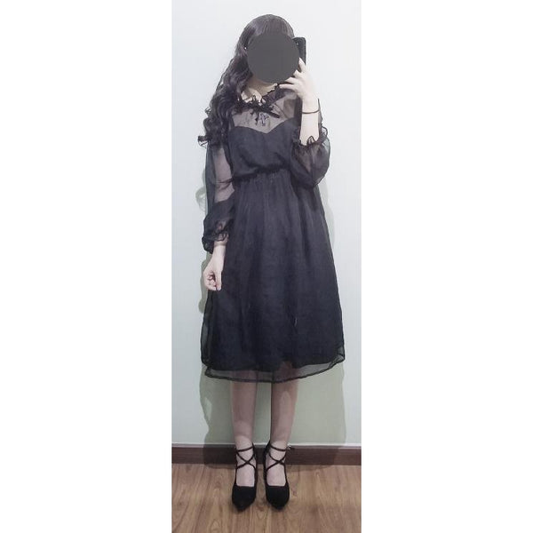 Gothic Lolita Inspired Dress-everyday dress-UAE Cute Stuff