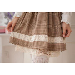 Harajuku plaid skirt dress with shirt-everyday dress-UAE Cute Stuff
