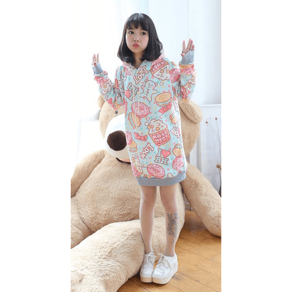 Harajuku style hooded sweater❤️14 styles inside❤️-everyday dress-UAE Cute Stuff