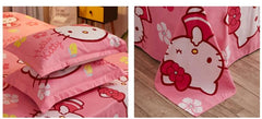 Hawaii Kitty Bed+Quilt+Pillow Set-bedding-UAE Cute Stuff