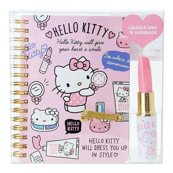 Hello Kitty Notebook and Lipstick Pen~Super Cute~-notebook-UAE Cute Stuff