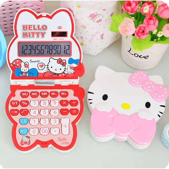HELLO KITTY Portable Calculator?-Calculator-UAE Cute Stuff