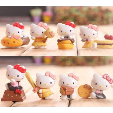 Hello Kitty Sweet Collection Figure Set/ Cake Decoration-toy-UAE Cute Stuff