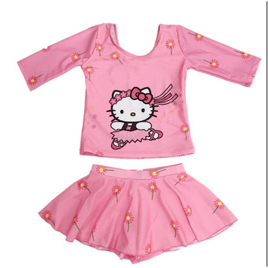 Hello Kitty Swim Suit~Long Sleeves~Skirt with Pant inside-kid clothing-UAE Cute Stuff