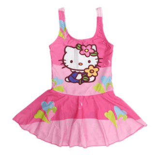 Hello Kitty Swim Suit~One Piece Flower-kid clothing-UAE Cute Stuff