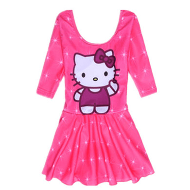Hello Kitty Swim Suit~One Piece long sleeves with underskirt pant-kid clothing-UAE Cute Stuff