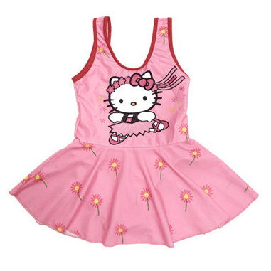 Hello Kitty Swim Suit~One Piece~Ballet Kitty-kid clothing-UAE Cute Stuff