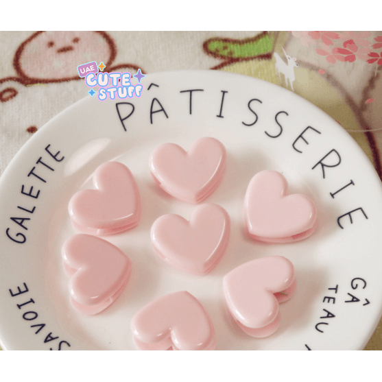 Kawaii Pink Heart Clip ❤️-clip-UAE Cute Stuff