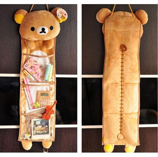Kawaii Soft Plush Rilakkuma Long Hanging Storage Bag-home-UAE Cute Stuff