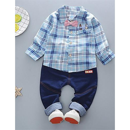 Kids Boys' Striped Long Sleeve Clothing Set-kid clothing-UAE Cute Stuff