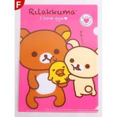 Lazy Bear Rilakkuma Cartoon Bear Paper Bag A4 File-folder-UAE Cute Stuff