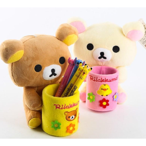 Lazy bear Rilakkuma Plush pencil holder-pencil case-UAE Cute Stuff