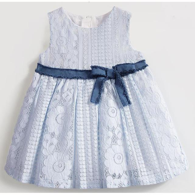 Light Blue Girl Lace Dress for Birthday, Pageant, Party/ Flower Dress-kid clothing-UAE Cute Stuff