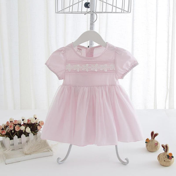 Light Pink Girl Dress for Summer Party for Birthday, Pageant, Party/ Flower Dress-kid clothing-UAE Cute Stuff